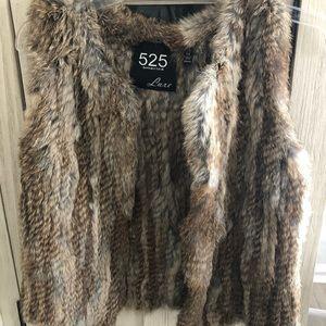525 America fur vest XS